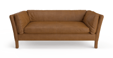 Miles Leather 3 Seater Sofa