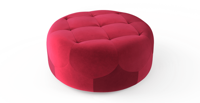 Marque Large Round Ottoman