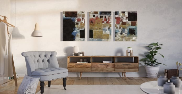 The Mosaic Triptych Set of 3