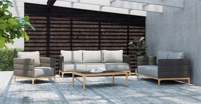 Rhodes Outdoor 2 Seater Sofa