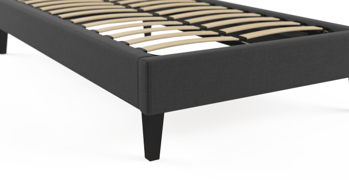 Single Size Upholstered Slimline Bed Frame Base