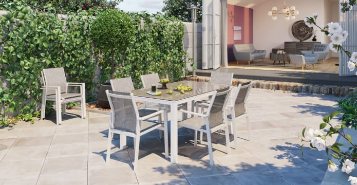 Malibu 6 Seater Outdoor Dining Set