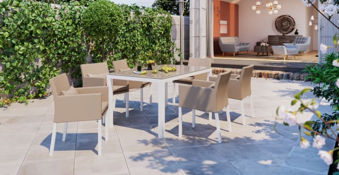 Waikiki - Malibu 6 Seater Outdoor Dining Set