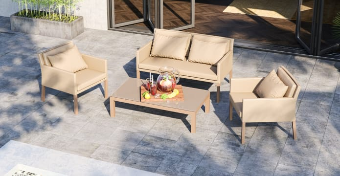 Waikiki Outdoor Lounge Set with Coffee Table