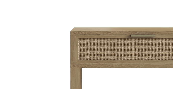 Caledonia Rattan 2 Drawer Console Table