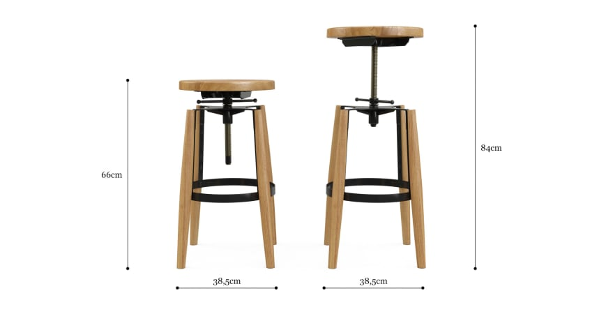 Buxton Adjustable Bar Stool
