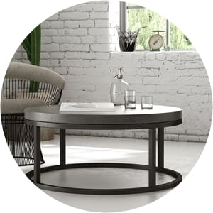 Blake industrial coffee table