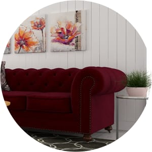 Notting hill venetian red velvet furniture