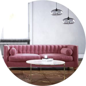 Camila 3 seater pink sofa