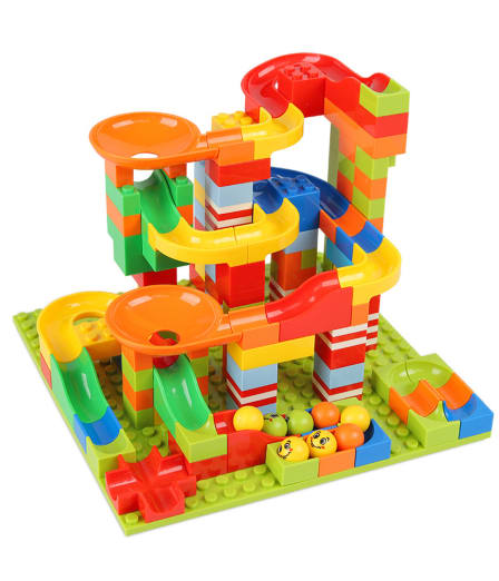 165PCS Marble Race Run Maze Ball Track Building Blocks Plastic Construction Tunnel Slide Blocks Toys for Children Gifts *1 PCS