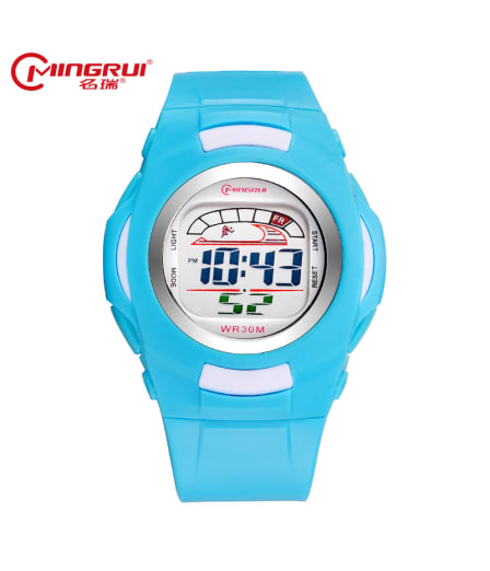 MINGRUI Children Digital Watch Waterproof Silicone Sport Watches Kids Fashion LED Watch Alarm Hour Clock Gift montre enfant