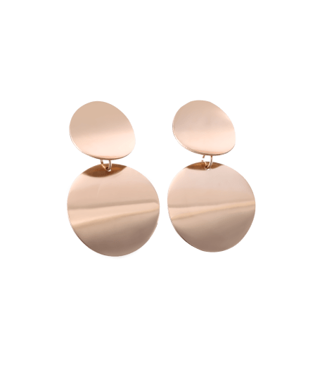 Round Double Drop Earrings