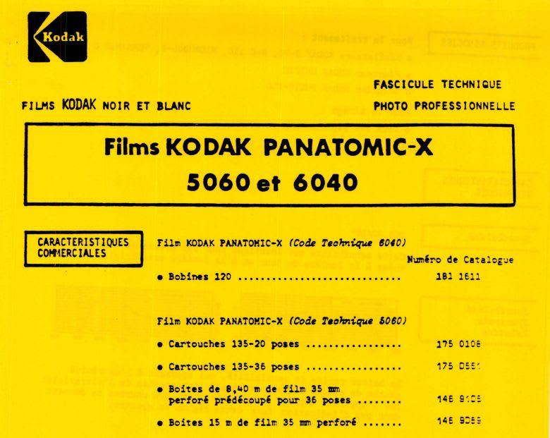 Pellicule Kodak Panatomic-X