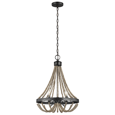 Oglesby Three Light Chandelier Washed Pine Bulbs Inc