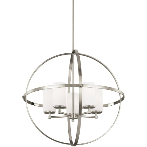 Alturas Five Light Chandelier Brushed Nickel