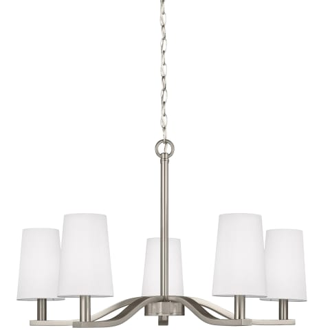 Nance Five Light Chandelier Brushed Nickel