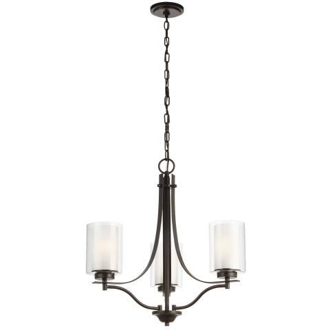 Elmwood Park Three Light Chandelier Heirloom Bronze