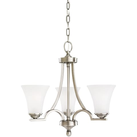 Somerton Three Light Chandelier Antique Brushed Nickel Bulbs Inc