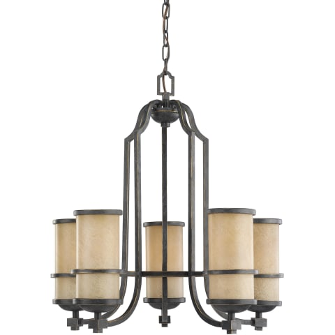 Roslyn Five Light Chandelier Flemish Bronze Bulbs Inc