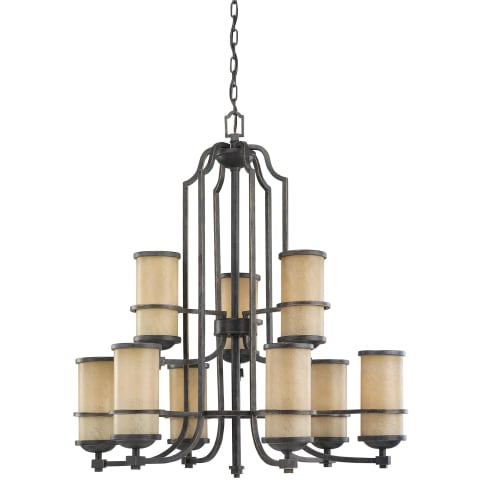 Roslyn Nine Light Chandelier Flemish Bronze Bulbs Inc