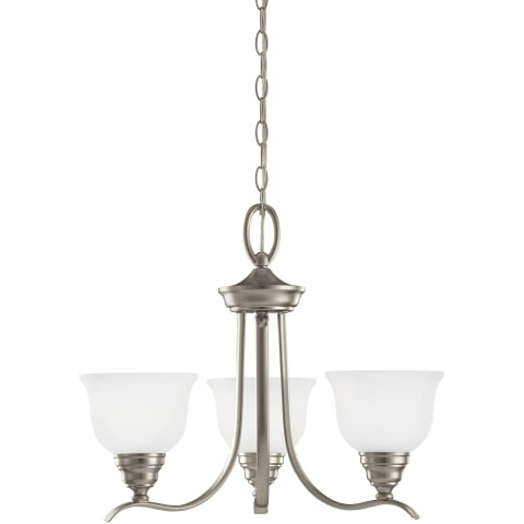 Wheaton Three Light Chandelier Brushed Nickel Bulbs Inc