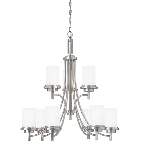 Winnetka Nine Light Chandelier Brushed Nickel