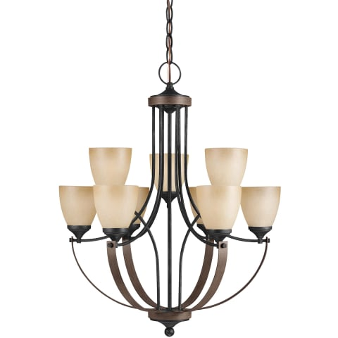 Corbeille Nine Light Chandelier Stardust Bulbs Inc