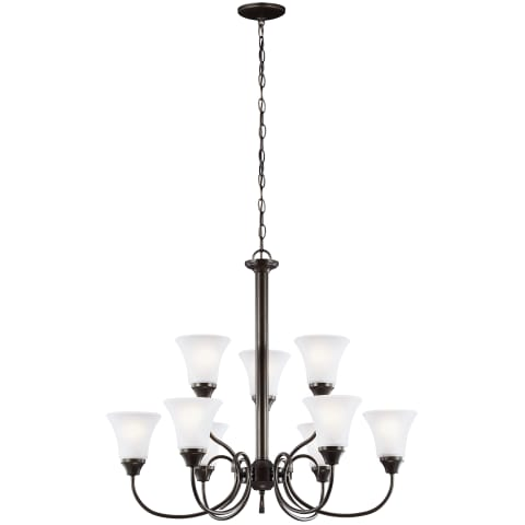 Holman Nine Light Chandelier Heirloom Bronze