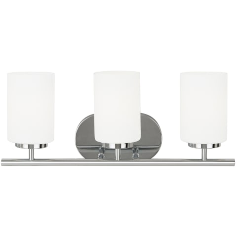 Oslo Three Light Wall / Bath  Chrome