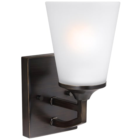 Hanford One Light Wall / Bath Sconce Burnt Sienna