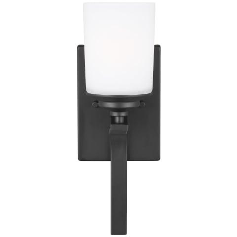 Kemal One Light Wall / Bath Sconce Midnight Black Bulbs Inc