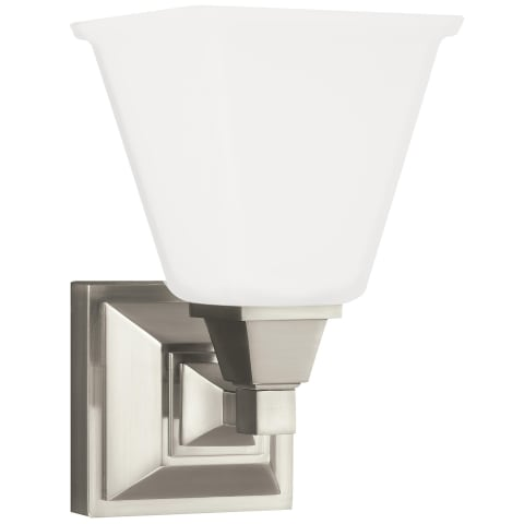 Denhelm One Light Wall / Bath Sconce Brushed Nickel Bulbs Inc