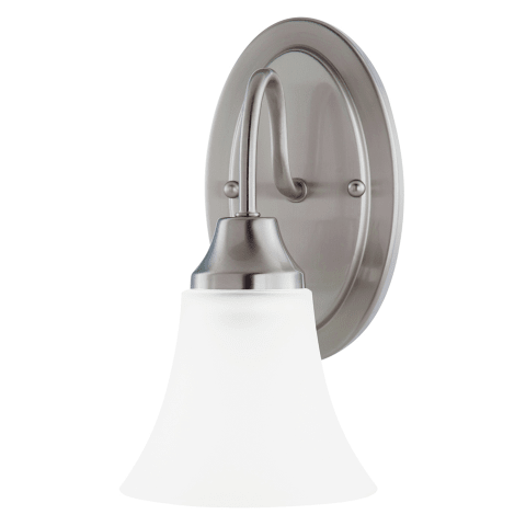 Holman One Light Wall / Bath Sconce Brushed Nickel