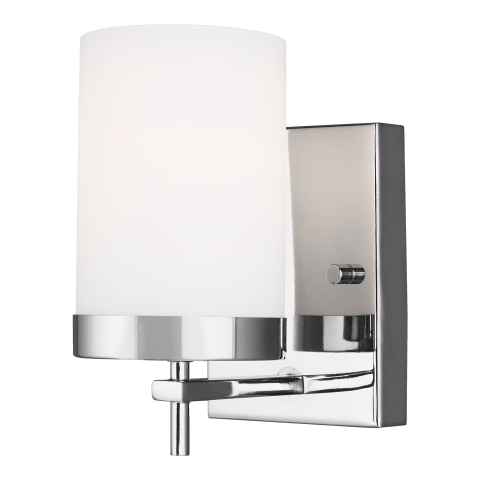Zire One Light Wall / Bath Sconce Chrome Bulbs Inc