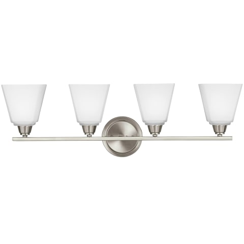 Parkfield Four Light Wall / Bath Brushed Nickel