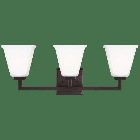 Ellis Harper Three Light Bath Brushed Oil Rubbed Bronze Bulbs Inc