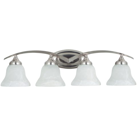 Brockton Four Light Wall / Bath Brushed Nickel