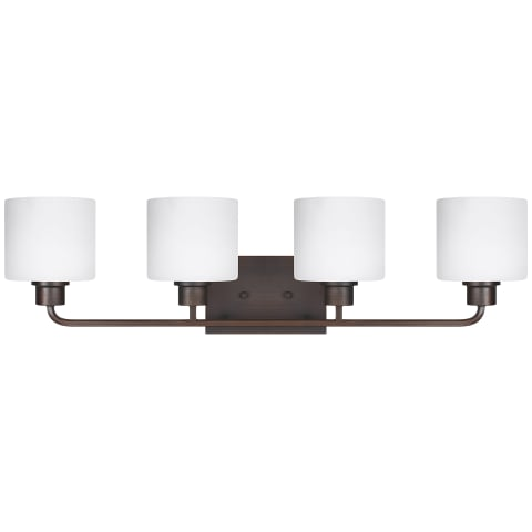 Canfield Four Light Wall / Bath Bronze Bulbs Inc