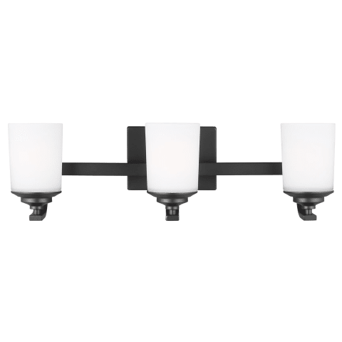 Kemal Three Light Wall / Bath Midnight Black Bulbs Inc