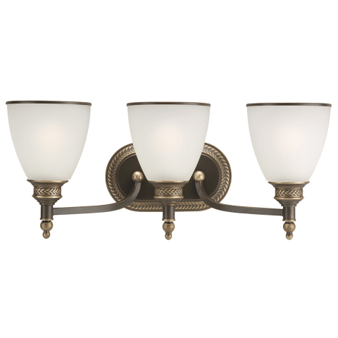 Laurel Leaf Three Light Wall / Bath Estate Bronze