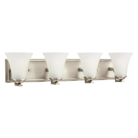 Somerton Four Light  Wall / Bath Antique Brushed Nickel Bulbs Inc
