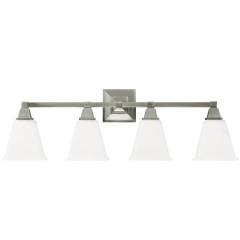 Denhelm Four Light Wall / Bath Brushed Nickel Bulbs Inc