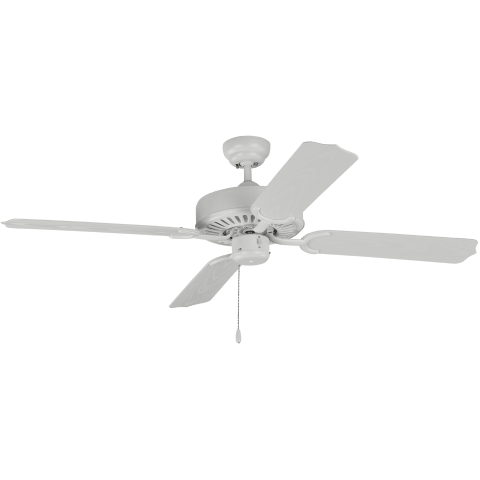 "52"" Tucker Outdoor Fan -  Matte White"