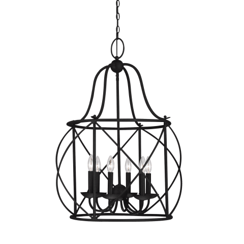 Turbinio Six Light Hall / Foyer Blacksmith Bulbs Inc