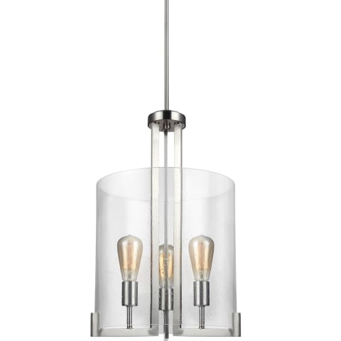 Dawes Three Light Hall / Foyer Brushed Nickel