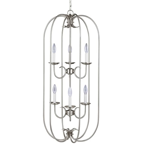Holman Six Light Hall / Foyer Brushed Nickel