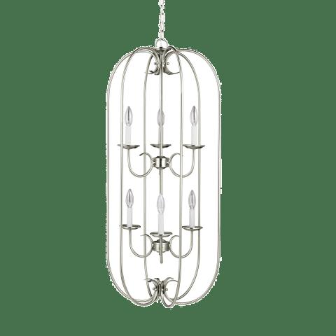 Holman Six Light Hall / Foyer Brushed Nickel Bulbs Inc