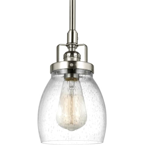 Belton One Light Mini-Pendant Brushed Nickel
