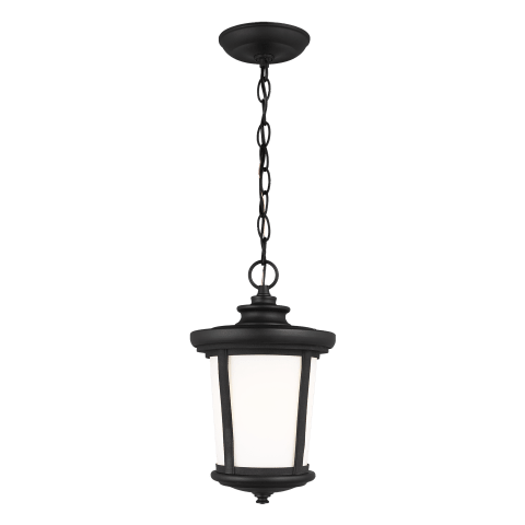 Eddington One Light Outdoor Pendant Black