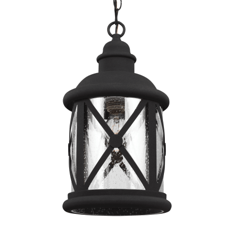 Lakeview One Light Outdoor Pendant Black